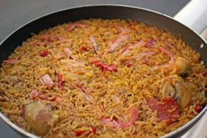 Paella Zubereitung