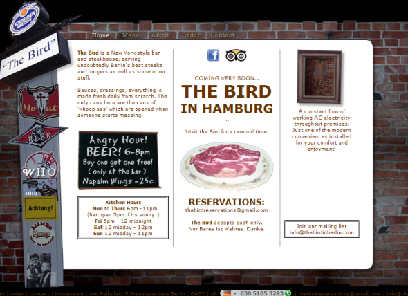 The Bird - Steakhouse in Berlin und Hamburg
